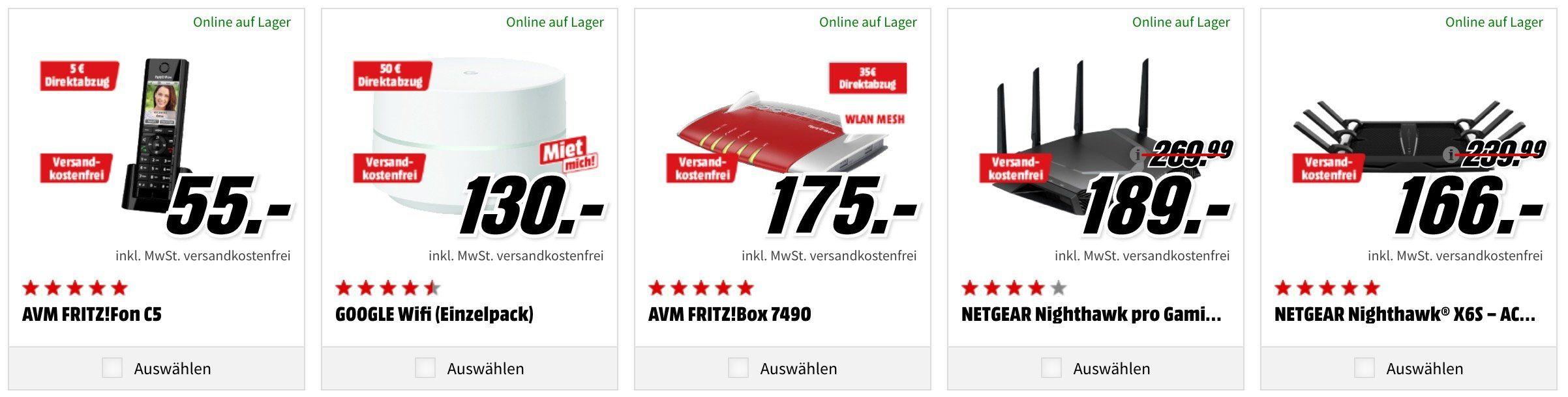 TOP! Media Markt  WLan Tiefpreisspätschicht:  günstige Router,  Repeater, Adapter & Switch