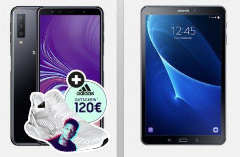 Knaller! Samsung Galaxy A7 + Samsung Galaxy Tab A + 120€ adidas.de Gutschein für 69,95€ + Vodafone Flat von Otelo mit 5GB LTE für 24,05€mtl.