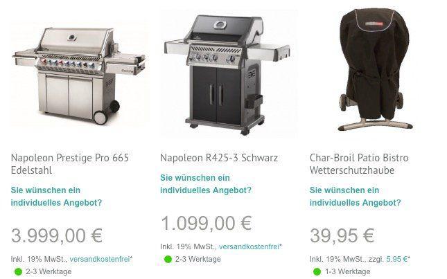 19% Rabatt auf Grills bei Masters.de   z.B. Napoleon Prestige Pro 665 für 3.239€ (statt 3.798€)