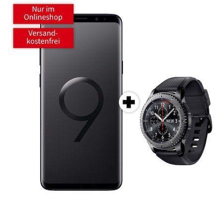 Knaller! Samsung Galaxy S9 + Gear S3 frontier 79€ + Telekom Flat 1GB für 19,99€ mtl.