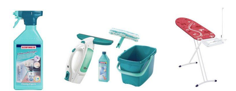 Leifheit und Soehnle Sale bei vente privee   z.B. Fenstersauger Set Dry & Clean für 55,99€ (statt 63€)