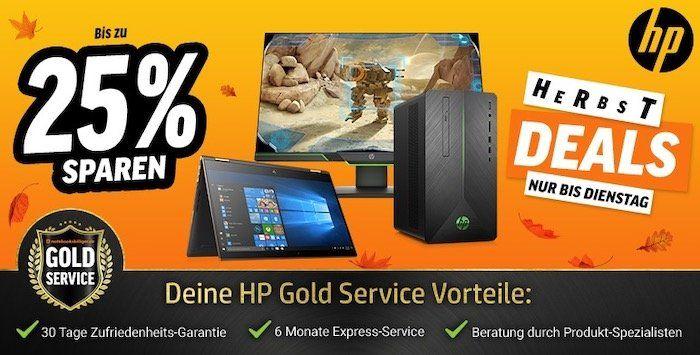 HP Herbst Deals bei Notebooksbilliger   z.B. 15% Rabatt auf Monitore