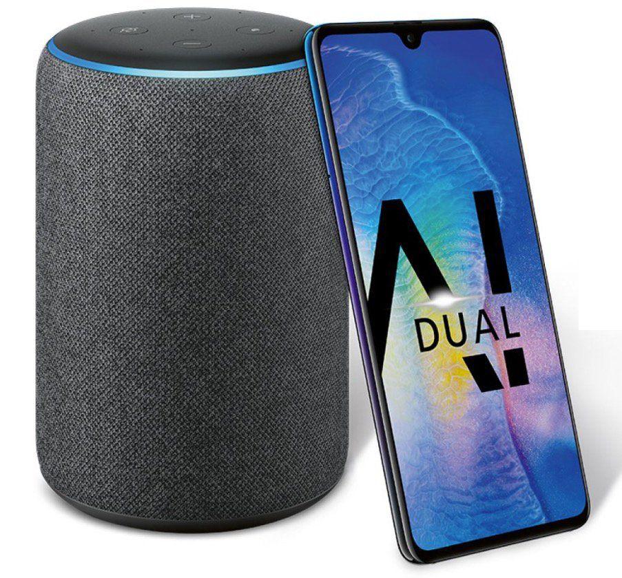 Knaller! Huawei Mate 20 für 49,99€ + gratis Amazon Echo Plus + o2 Allnet Flat mit 2GB LTE für 32,99€ mtl.