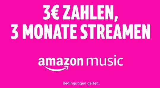 3 Monate Amazon Music Unlimited Family (bis zu 6 Geräte) für nur 3€   nur Neukunden