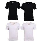 4er Pack Mustang Herren Basic T-Shirts mit Crew-Neck & V-Neck für je 24,95€ (statt 40€)