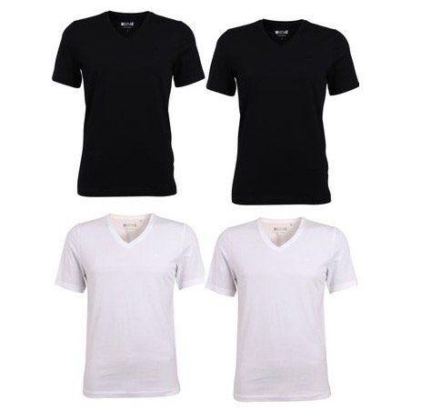 4er Pack Mustang Herren Basic T Shirts mit Crew Neck & V Neck für je 24,95€ (statt 40€)