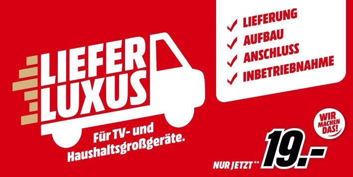 Media Markt: Lieferluxus für TV und Haushaltsgroßgeräte ab 299€ für nur 19€ (Aufstellung und Anschluss)