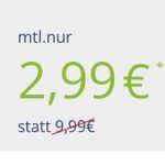 Knaller! Vodafone Tarif mit 100 Freiminuten + 1GB für 2,99€ mtl.