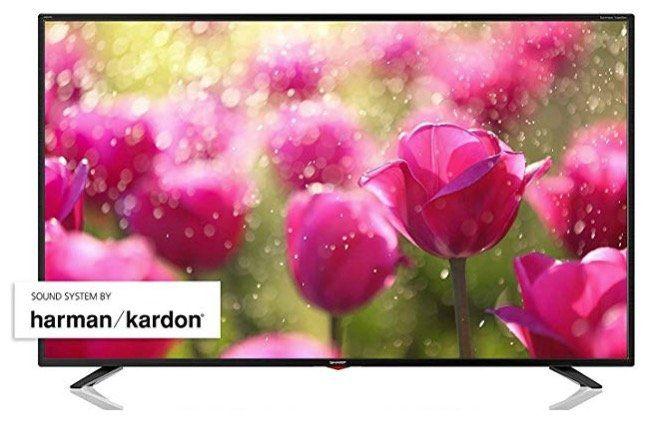 Sharp LC 55UI7352E   55 Zoll UHD Fernseher mit WLAN für 399€ (statt 480€)