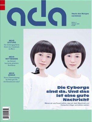 Gratis: eine Ausgabe vom Zukunftsmagazin ada (statt 7,50€)   Print und Digital!