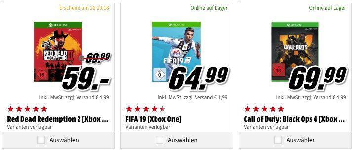Xbox One X 1TB Forza Bundle + 1 von 3 Spielen ab 449€