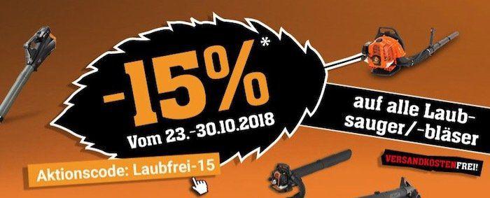 Fuxtec Laubsauger & Laubbläser mit 15% Rabatt