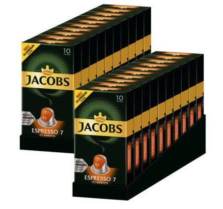 200er Pack Jacobs Espresso 7 Classico Nespresso kompatible Kaffeekapseln für 19,90€   MHD 10.11.2018