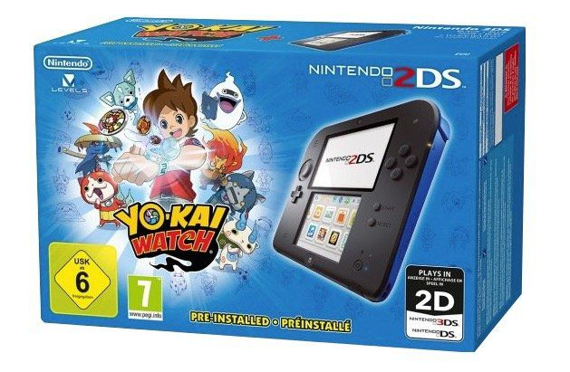 Nintendo 2DS Spielekonsole inkl. Yo Kai Watch für 69,99€ (statt 114€)