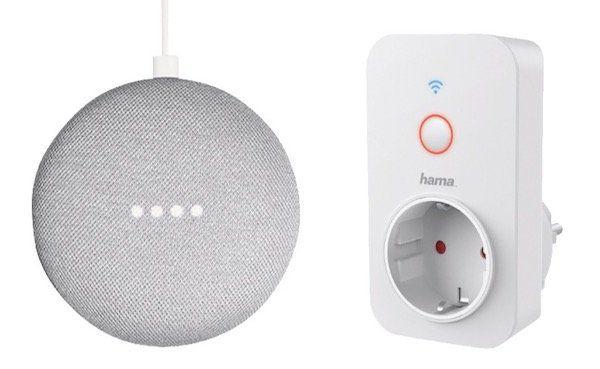 TOP! 2er Pack Google Home Mini + Hama WLAN Steckdose für 65€ (statt 102€)