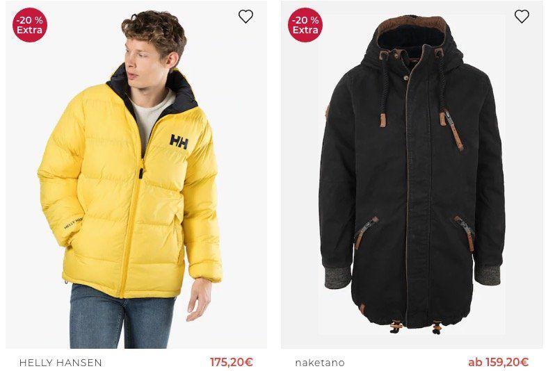 TOP! Großer Jacken Sale mit bis zu 20% Extra Rabatt auf bereits reduzierte Jacken