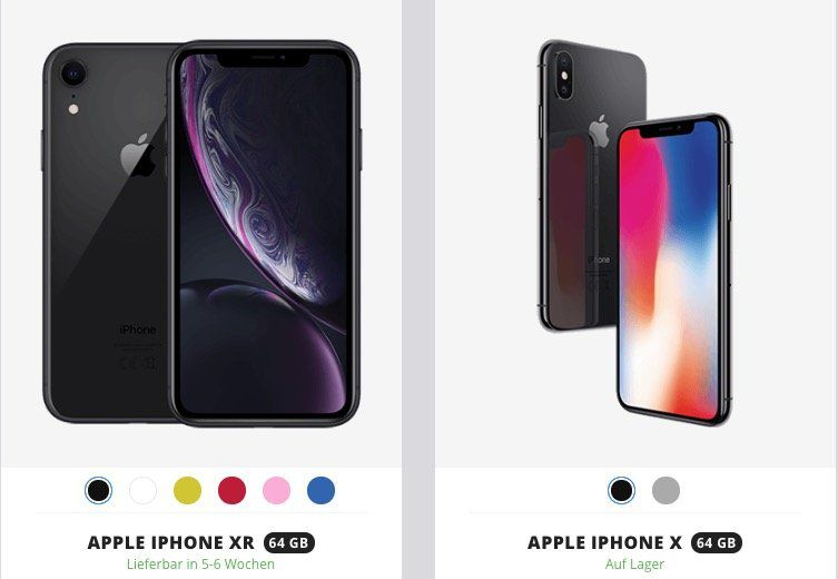 Apple iPhone X für 4,95€ oder iPhone XR für 4,95€ + Vodafone Allnet mit 11GB LTE ab 46,99€ mtl.   Young mit 17GB möglich