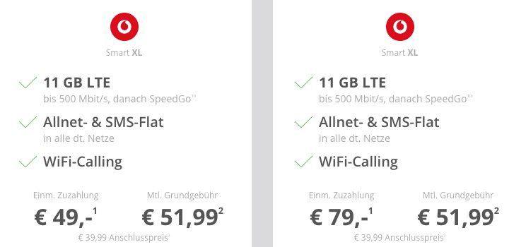 Apple iPhone Deals bei Sparhandy   z.B. iPhone X für 79€ oder iPhone XR für 49€ + Vodafone Allnet mit 11GB LTE für 51,99€ mtl.