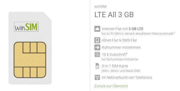 o2 Allnet Flat mit 3GB LTE für 7,99€ mtl. + monatlich kündbar
