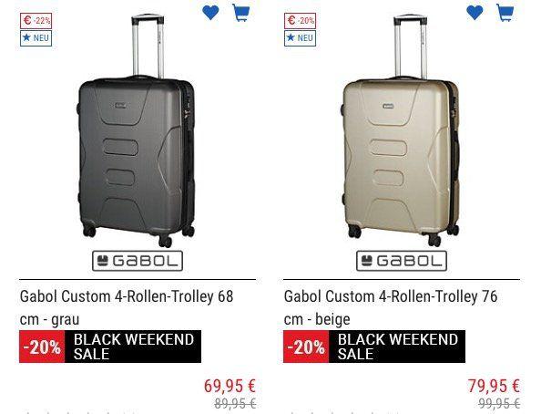 Koffer Direkt mit 20% Black Weekend Sale bis Mitternacht + weitere 5% bei Vorkasse