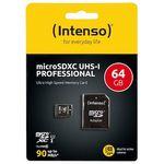 Intenso microSDXC 64GB Class 10 Speicherkarte für 9,99€ (statt 17€)