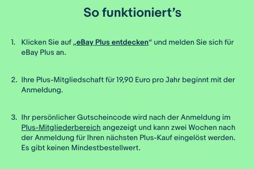 Vorbei! eBay Plus Mitglied für 19,90€ werden und 30€ Gutschein gratis erhalten