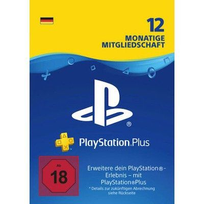 PlayStation Plus (365 Tage) für 44,99€ (statt 51€)