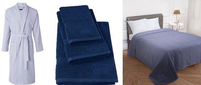 Hugo Boss Home Sale mit Bettwäsche, Badwäsche und Decken   z.B. Handtuch Loft aus Baumwolle 700 g/m² ab 2,99€