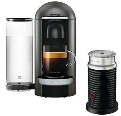 Krups XN900T Nespresso Vertuo Plus Kaffeekapselmaschine + Milchaufschäumer für 99,90€(statt 197€)