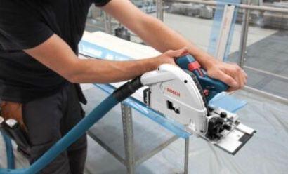 Bosch GKT 55 GCE Professional Handkreissäge mit Führungsschiene inkl. L BOXX für 386€ (statt 449€)