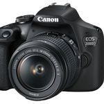 Canon EOS 2000D Spiegelreflexkamera mit Objektiv 18-55 mm für 299€ (statt 376€)