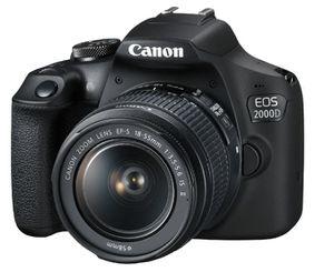 Canon EOS 2000D Spiegelreflexkamera mit Objektiv 18 55 mm für 299€ (statt 376€)