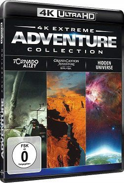 Extreme Adventure Collection (Tornado Alley, Grand Canyon Adventure, Hidden Universe) als 4K Blu ray für 4,99€ (statt 11€)