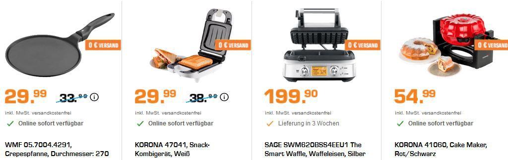 Saturn Late Night Shopping: günstige Haushaltartikel   z.B. ARIETE Muffin Maker für 19,99€ (statt 30€)