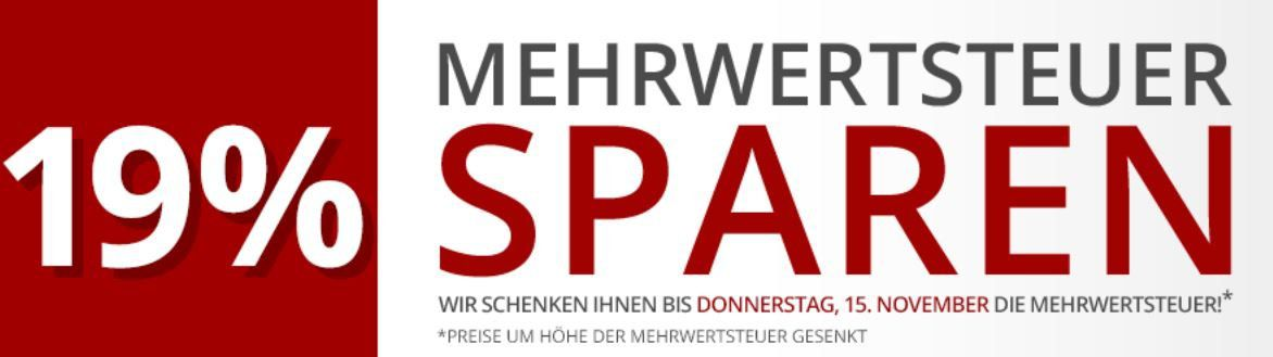 Bis Mitternacht: Druckerzubehör ohne Mehrwertsteuer + Gratis Kofferraum Schutzbezug, Zettelblock & Zimmermansbleistift + VSK