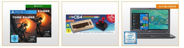 Saturn Entertainment Weekend Deals: z.B. The C64 Mini Konole für 39€ (statt 54€)