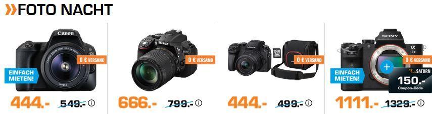 Saturn Foto Late Night: z.B. NIKON D5300 Kit Spiegelreflexkamera mit 18 105mm Objektiv für 666€ (statt 705€)