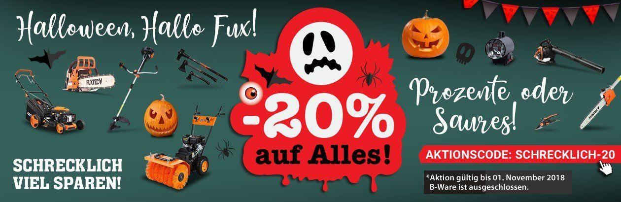 Fuxtec: 20% auf fast alles bis Mitternacht   z.B. Benzin Rasenmäher FX RM5396P für 327,20€ (statt 399€)