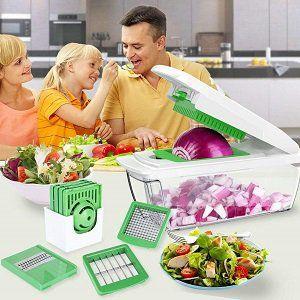 YRYP Gemüseschneider mit 8 austauschbaren Klingen für 18,99€ (statt 29€)