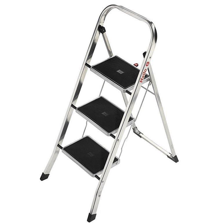 Hailo K30   3 Stufen Alu Klapptritt mit Sicherheitsbügel für 29,90€ (statt 47€)