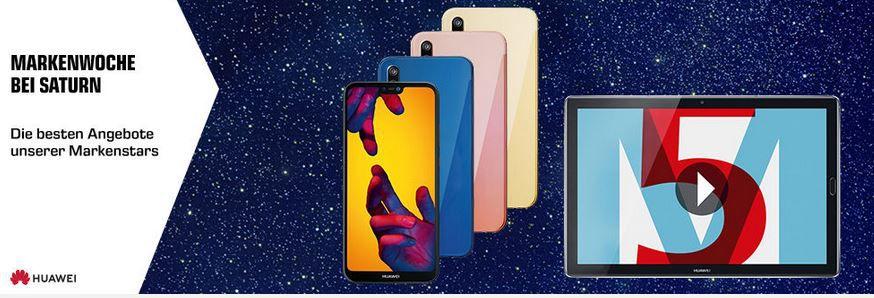 Saturn Markenwoche: heute günstige Huawei Phones & Tablets: z.B. Huawei P Smart+ für 239€ (statt 280€)