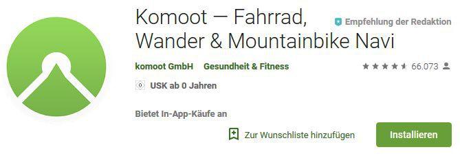 Neuer Komoot Gutschein für kostenlose Region Berlin
