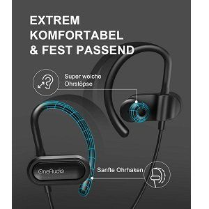 OneAudio A4 BK   BT In Ear Kopfhörer mit Mikrofon für 9,49€ (statt 19€)