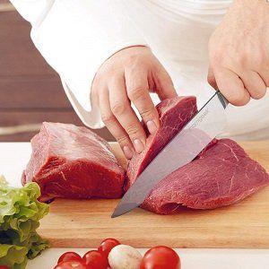 Homgeek 20cm Küchenmesser Kochmesser mit ergonomischen Holzgriff für 14,94€ (statt 23€)