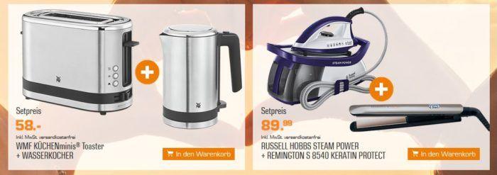 SATURN Bundle Feiertags Aktion: z.B. WMF Küchenminis Toaster + Wasserkocher für 58€ (statt 83€)