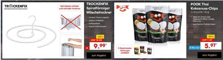 PooK Kokosnuss Chips 3er Pack ab 5,97€ o. TROCKENFIX Wäschebügel ab 9,99€ die aktuellen Höhle der Löwen Deals