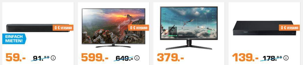 Saturn Markenwoche: heute viele günstige LG Artikel – z.B. LG 55UK6470 (55 Zoll), UHD smart TV für 599€ (statt 722€)