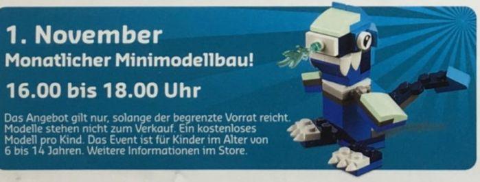 Gratis Lego Mini Bauaktion November – nur am 01.11. in teilnehmenden Lego Stores