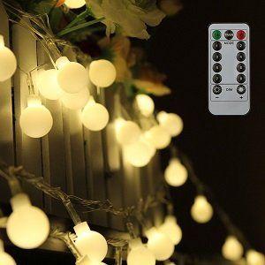 Tomshine warmweiße Lichterkette mit 80 Kugel LEDs und 10m für 10,49€ (statt 14€)