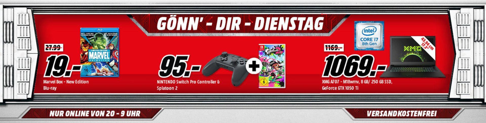 Xbox One S 500GB + Forza Horizon 3 Hot Wheels + Shadow of the Tomb Raider für 199€ (statt 303€) uvm. im Media Markt Dienstag Sale